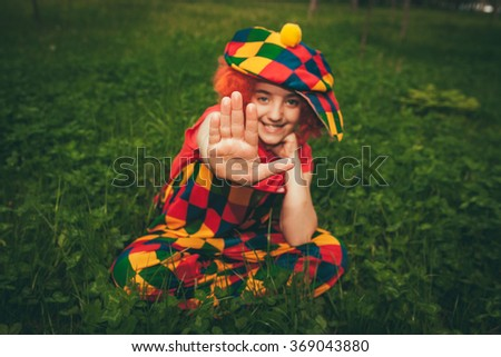 Happy clown  - stock photo