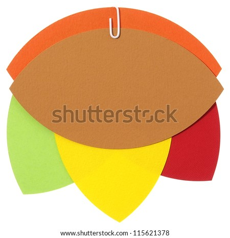 Happy colors blank papers for notion - stock photo