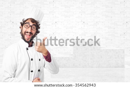 happy cook man okay sign