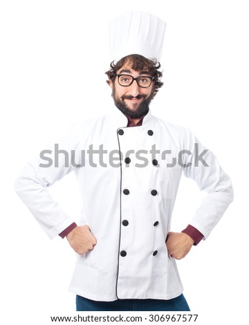 happy cook man proud pose