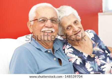 Happy Couple Elderly  - stock photo