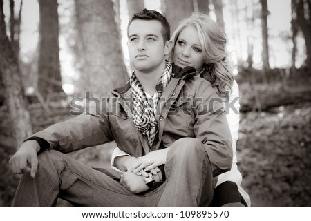Happy Couple In Love - stock photo