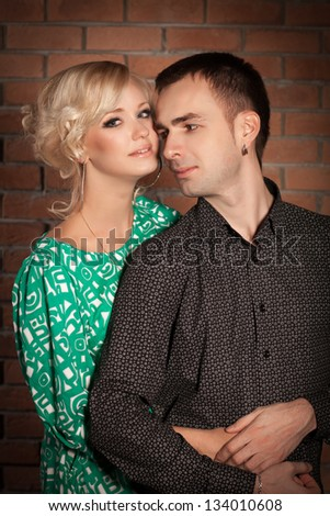 Model Search   Stock Photos  Images  amp  Pictures   Shutterstock Shutterstock Happy couple in love having fun in studio  Loving couple embracing  Beautiful woman and