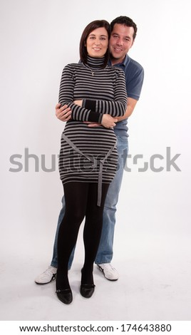 Happy couple posing together - stock photo