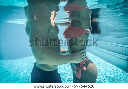 Kissing Underwater Stock Images Royalty Free Images Vectors Shutterstock