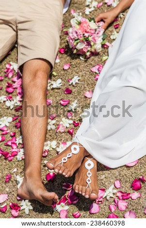 happy couples wedding lowe story romance - stock photo