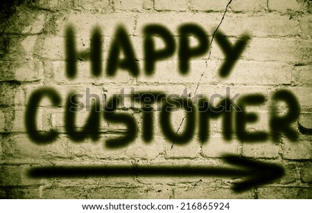 Happy Customer Concept - stock photo