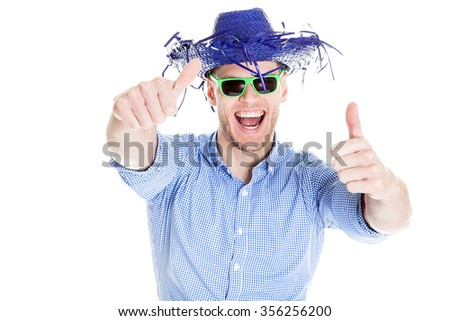 Happy disguised businessman - stock photo