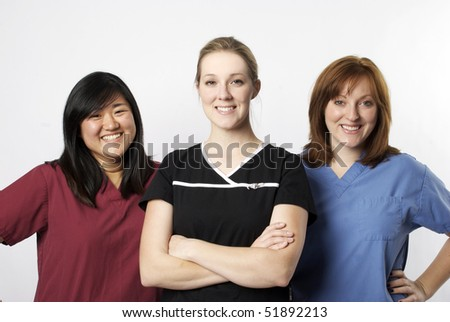 Happy Diverse group of medical professionals