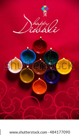 Happy diwali happy deepavali greeting card stock photo royalty free happy diwali or happy deepavali greeting card made using a photograph of diya or oil lamp m4hsunfo