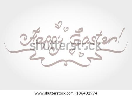 HAPPY EASTER - stock photo