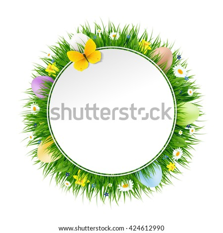 Happy Easter Banner  - stock photo