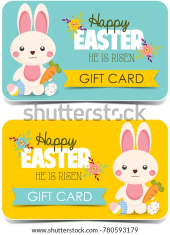 Happy easter gift cards cute bunny 780593179 shutterstock happy easter gift cards cute bunny negle Gallery