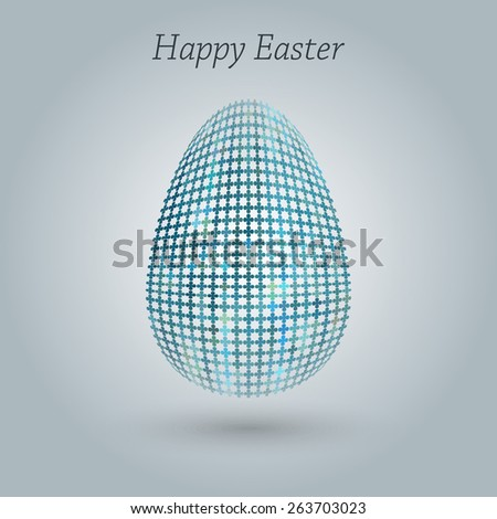 Happy Easter greeting banner.
