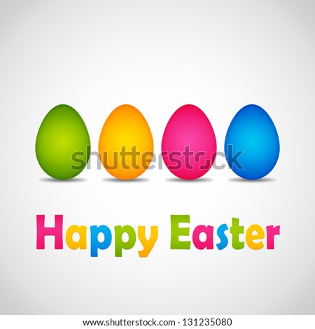 happy easter poster - stock photo
