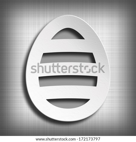 Happy Easter - shape of egg on patterned background