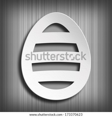 Happy Easter - simple shape of egg on gray background