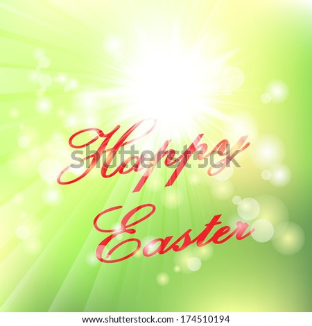 Happy Easter Typographical Background. Happy easter cards illustration retro vintage. Hand lettering style Title. Calligraphic symbol for Easter - stock photo