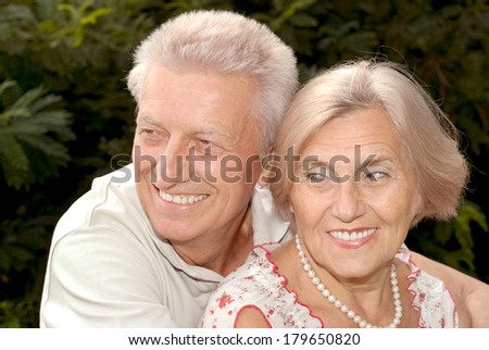 Happy elderly couple enjoying each other's company