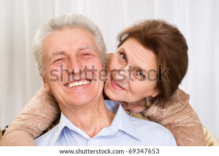 happy elderly couple together