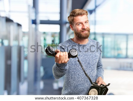 happy expression - stock photo