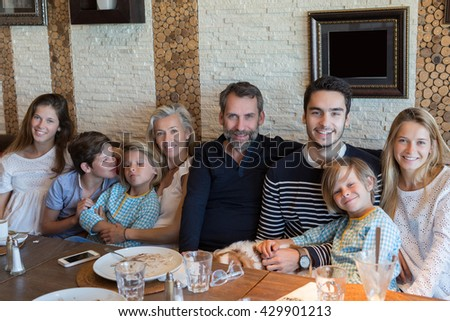 happy family lunch time
