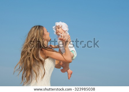 Happy family. Mother and her daughter having fun. Positive human emotions, feelings, emotions. - stock photo