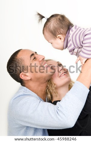 happy family with a baby - stock photo