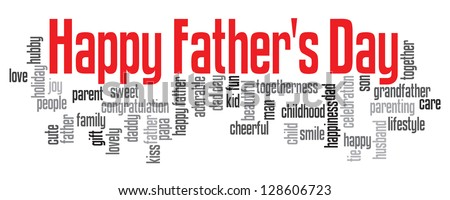 Happy Father's Day info text graphic isolated on white background