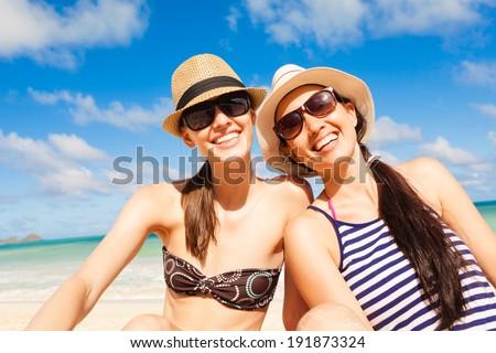 Happy female friends.  - stock photo