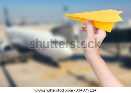 happy flight concept - stock photo