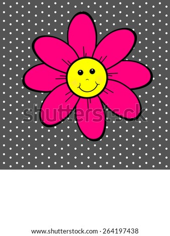 Happy Flower - Text - stock photo