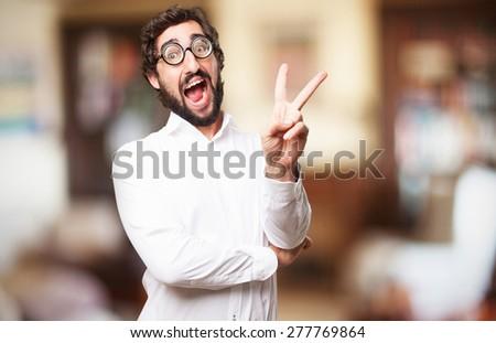 happy fool man - stock photo