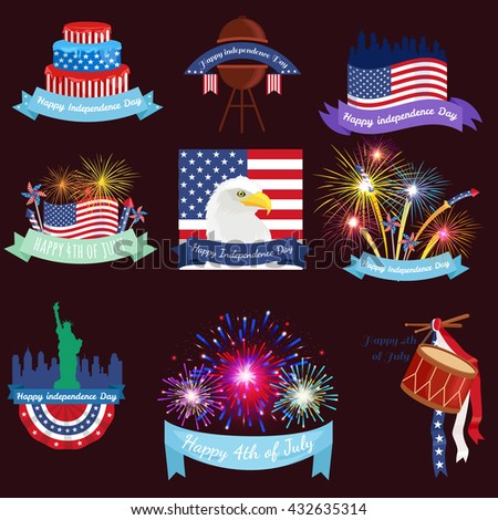 Happy fourth of july, Independence Day Design illustraion