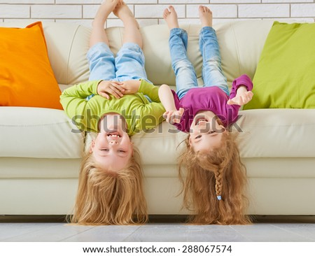 happy friends having fun together - stock photo
