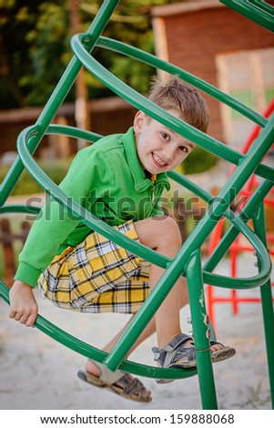 Happy games - pretty boy on the playground