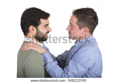 Happy gay couple - stock photo