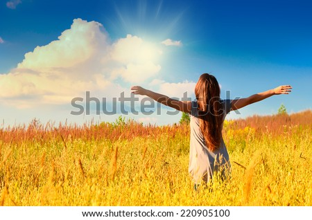 happy girl - stock photo