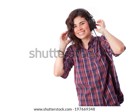 Happy girl with an headphones