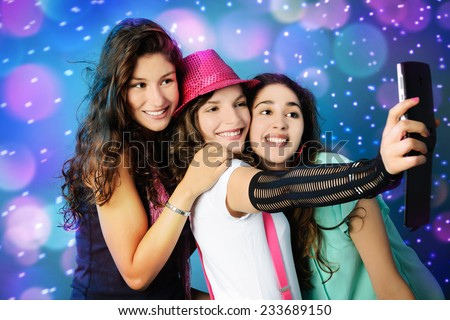 happy girls - stock photo