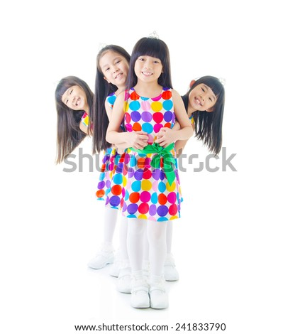 happy girls - stock photo