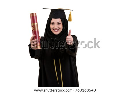 young happy cheerful n male student stock photo  happy graduate arabic muslim student diploma