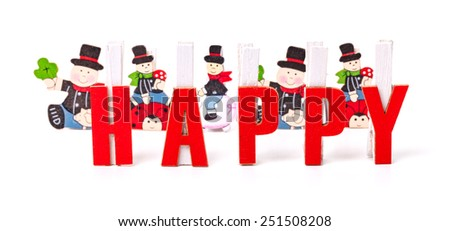 Happy, greeting card - stock photo