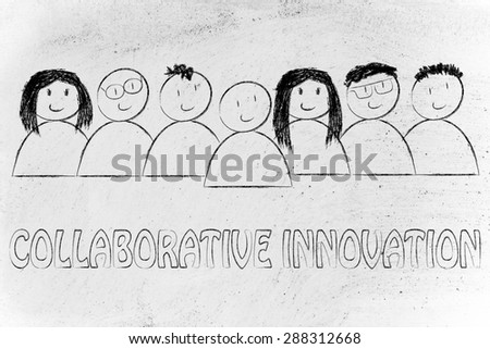 happy group of people dedicated to collaborative innovation