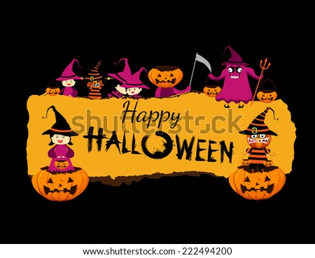 Happy halloween banner - stock photo