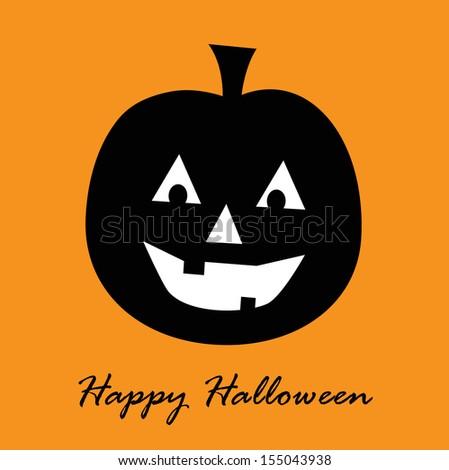 Happy Halloween Card - stock photo