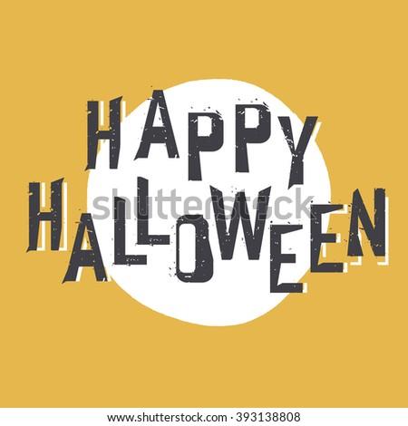 Happy Halloween Greeting. Raster version - stock photo
