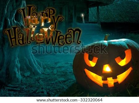 Happy Halloween party, Creative Design - stock photo