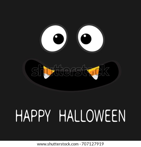 Happy Halloween Scary Face Emotions Big Stock Illustration ...