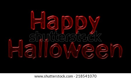 happy halloween with blood font style